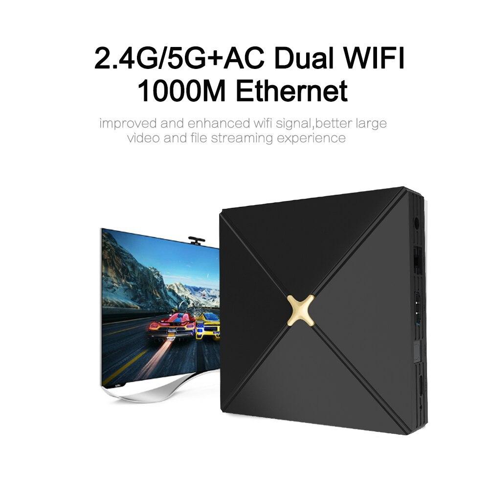 XIPU nuevo RK3399 Dual Core reproductor multimedia TV box android 9,0 smart TV YSE set top box con 4 + 64 GB