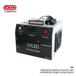 400 w uv conduziu a cabeça de cura do sistema 2 para imprimir a máquina de cura conduzida, impressão da etiqueta, impressora do leito, tinta uv, luz de cura da colagem