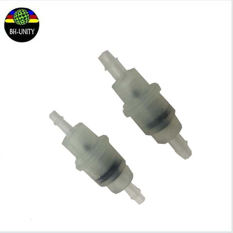 10 piunids/lote impresora válvula no retorno Válvula de una manera manguera abrazadera plástico Flora plástico septo resistencia