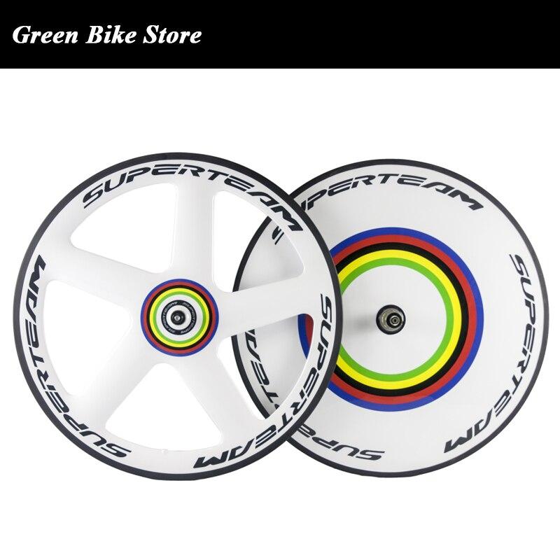 Hoge kwaliteit carbon disc wiel 700c clincher racefiets voor vijf spoke rear disc track wielset clincher