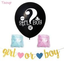 Taoup-ballons noirs pour fête prénatale   Couleur rose et bleue, 36 pouces, pour garçon ou fille, fournitures de fête, ballons confettis bombe, 1 pièce