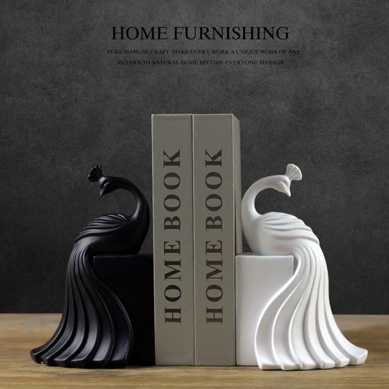 Figurita de pavo real de resina creativa, estatua vintage para el hogar, manualidades decorativas para habitación de estudio, objetos de decoración, estatuilla de animales de pavo real