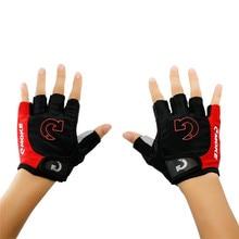 Hommes gants de cyclisme vélo Sports demi doigt gants anti-dérapant Gel Pad moto vtt route vélo gants S-XL nouveauté