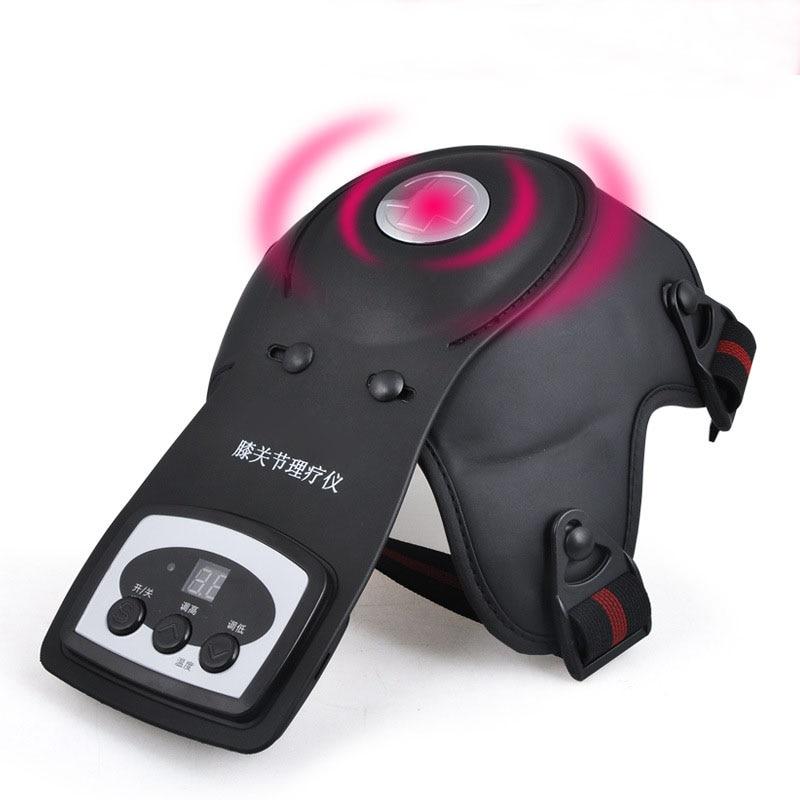 Calefacción eléctrica magnética vibración masaje rodillera infrarrojo lejano fisioterapia para rodilla fotón terapia masajeador DHL envío gratis