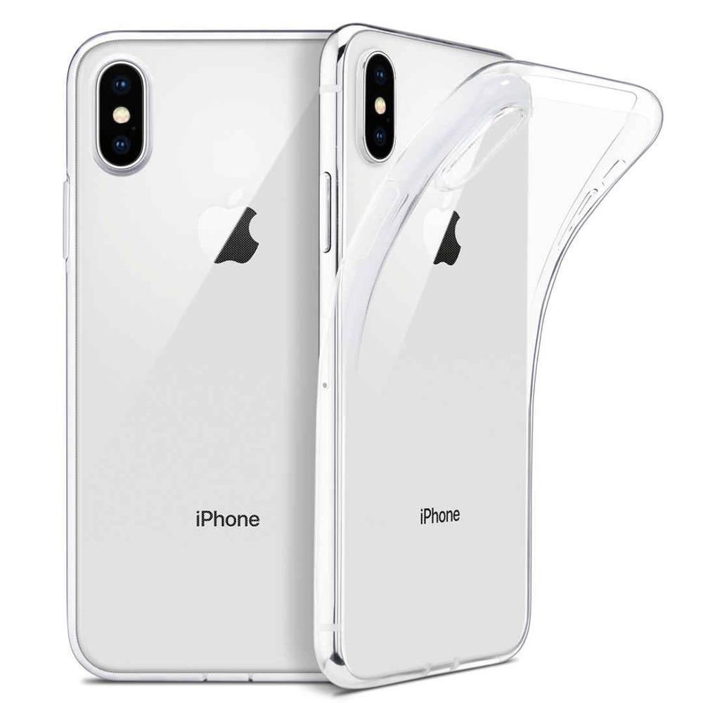 Funda transparente para iPhone 7 Plus, funda de silicona suave TPU, cubierta trasera Ultra fina para iPhone 11 11Pro X XS XR XSMAX 7 8 6 6S Plus