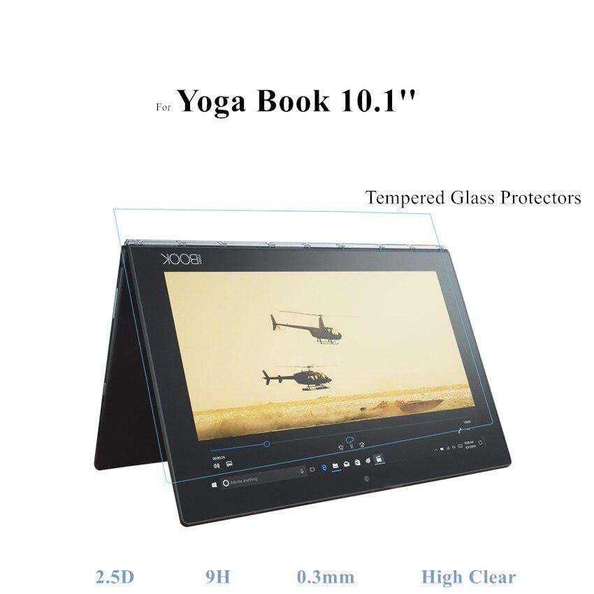Protector de vidrio para libro de Yoga para Lenovo YogaBook 10,1 protectores de pantalla de vidrio templado 2.5D alto claro antiarañazos