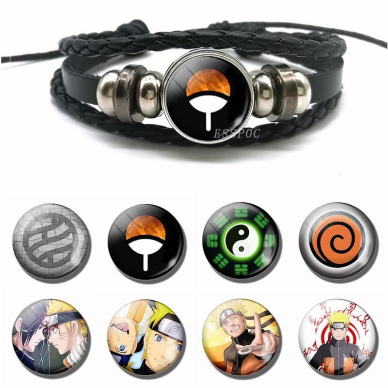 Hot Japan Anime Bracelet Naruto Cartoon Multi-layer Leather Bracelet Men Women Fashion Accessories