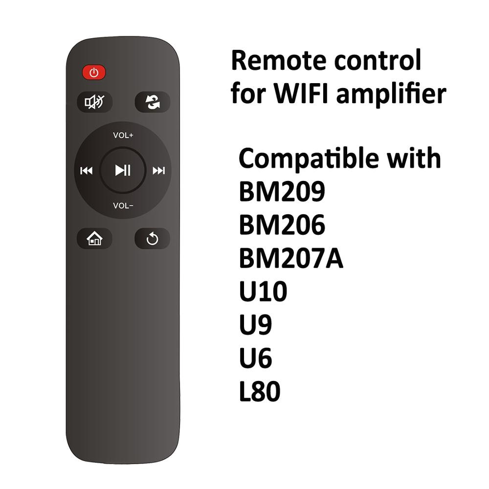 Control remoto infrarrojo para sistema de música inteligente, sistema de cine en casa inalámbrico, control de amplificador de pared