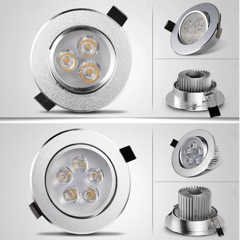 Купить с кэшбэком LED downlight Recessed SOPT  Hot Sale 6W 9W 12W 15W 21W  AC220V LED Ceiling Downlight Dimmable led Downlight LED Spot Light