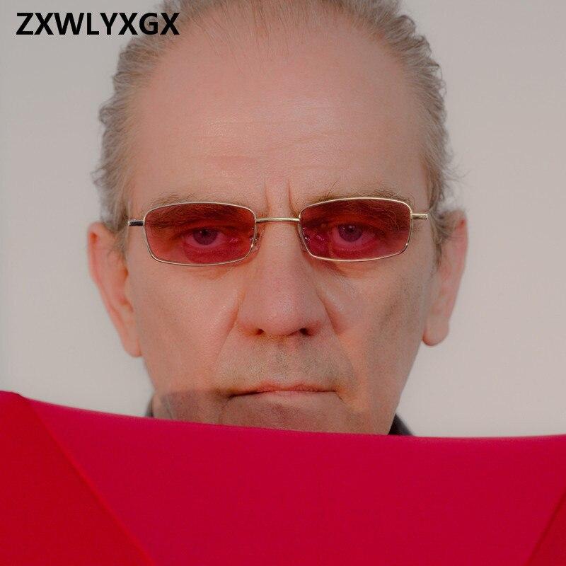 ZXWLYXG 2018 New Small Rectangle Sunglasses Women Retro Brand Designer Red Sun Glasses Men Glasses Female Unisex