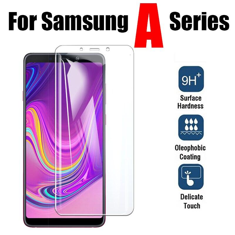 Защитное стекло для Samsung Galaxy A8 Plus A9 A7 2018, защитная пленка для экрана sansung Sheet tremp A730F A750, закаленное стекло
