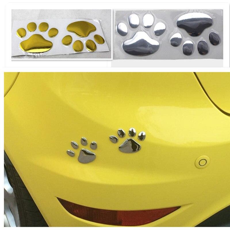 Car cute footprint sticker FOR megane 4 audi q7 passat b8 citroen ds3 opel astra alfa 147 peugeot 508 alfa romeo gt golf mk2