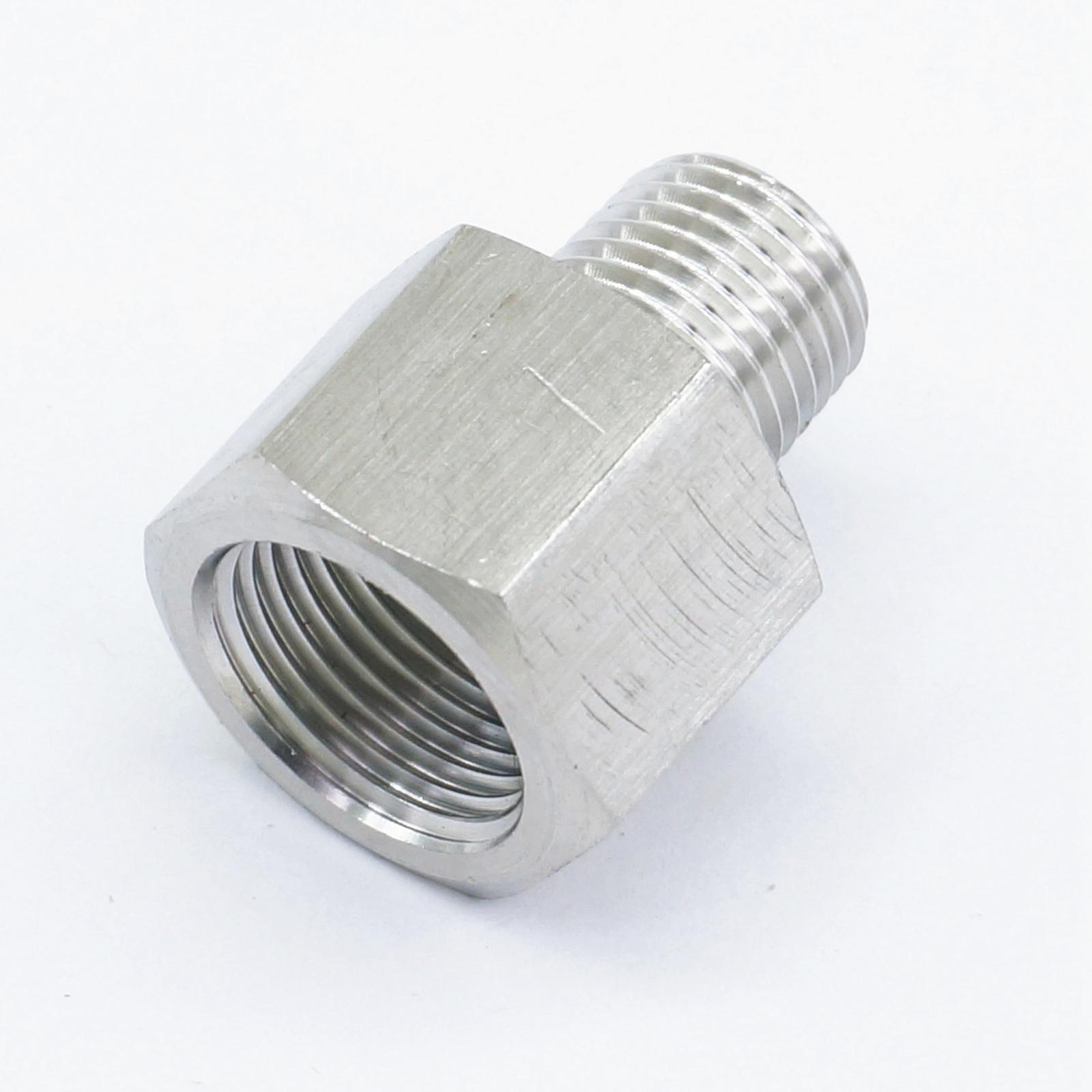 "Conector de instalación de tuberías de acero inoxidable 304, adaptador de 3/8 ""BSP hembra a 1/4"", rosca macho BSP Max presión 2,5 Mpa"