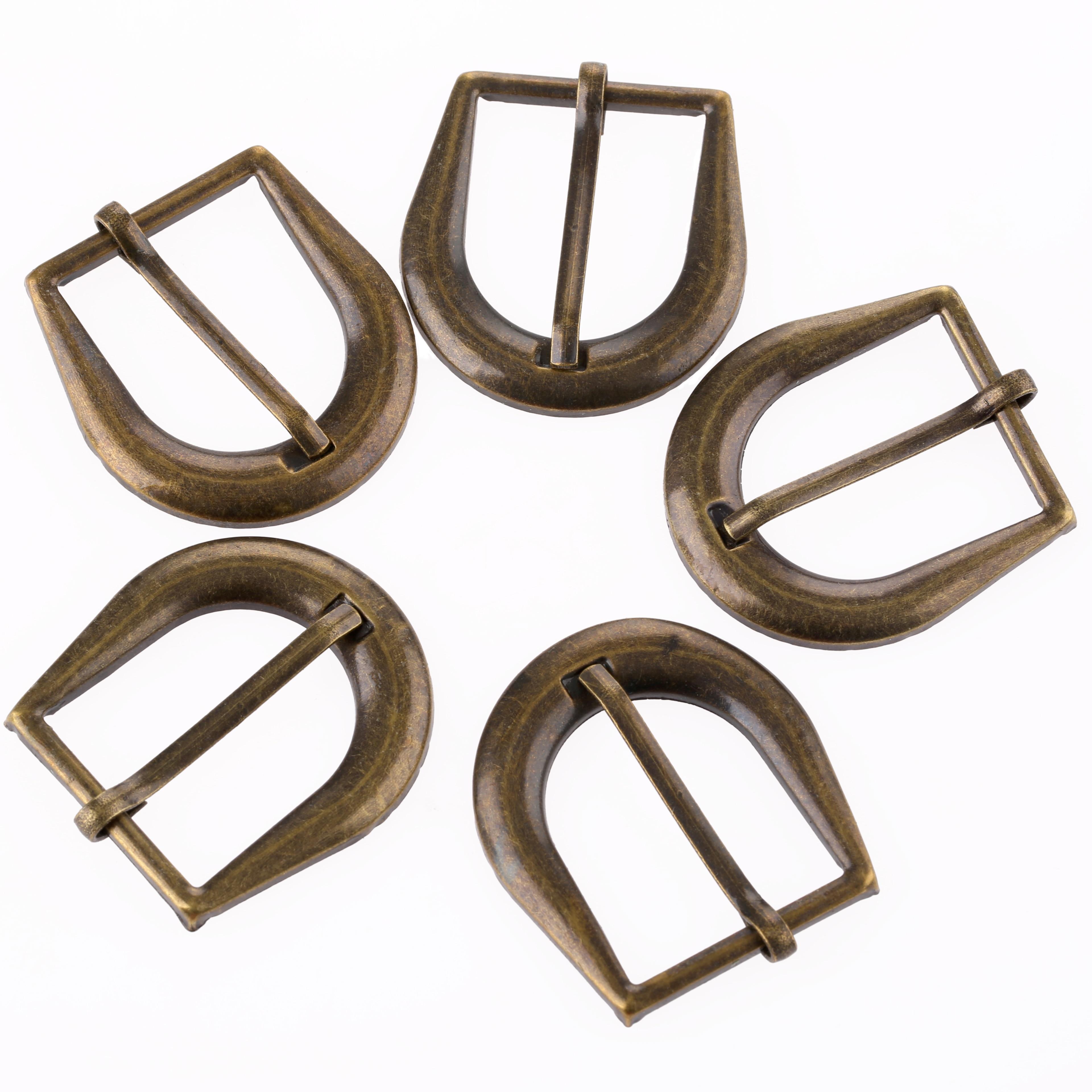 5Pcs Antique Brass Belt Buckles Decorative Jewelry Box Hasp Lock Latch Retro Iron Hardware for Furniture Drawer 42*32mm