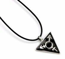 Collier noir foncé transgenre homme femme symbole Triangle Gay pendentif arc-en-ciel collier LGBT bijoux homosexuels cordon Chokers