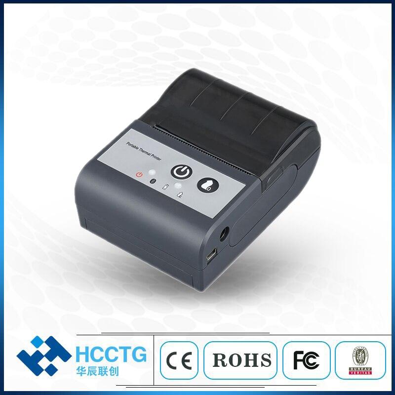 صغيرة 5V 58 مللي متر بلوتوث اللاسلكية فاتورة الطباعة آلة يده الحرارية تذكرة طابعة HCC-T2P