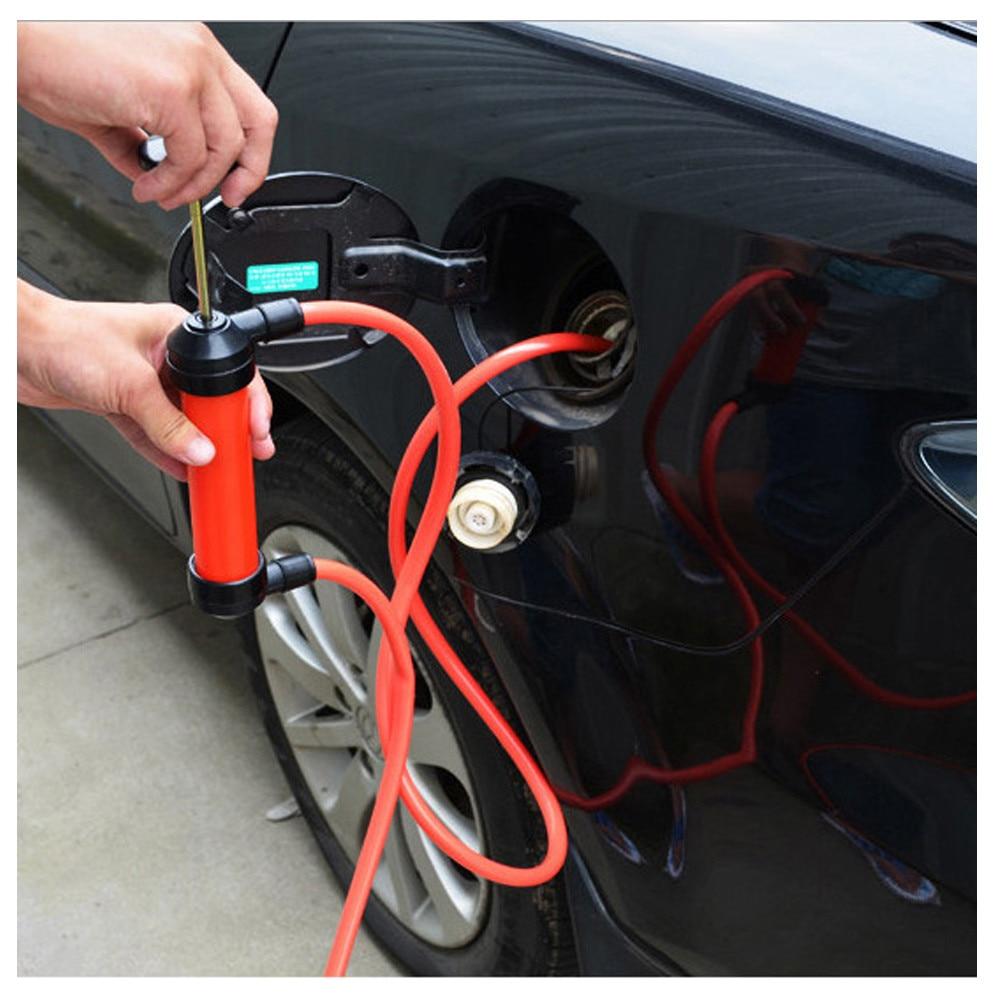 Tubo de sifón de bomba de aceite Manual portátil para manguera de coche con Extractor de Gas #0610