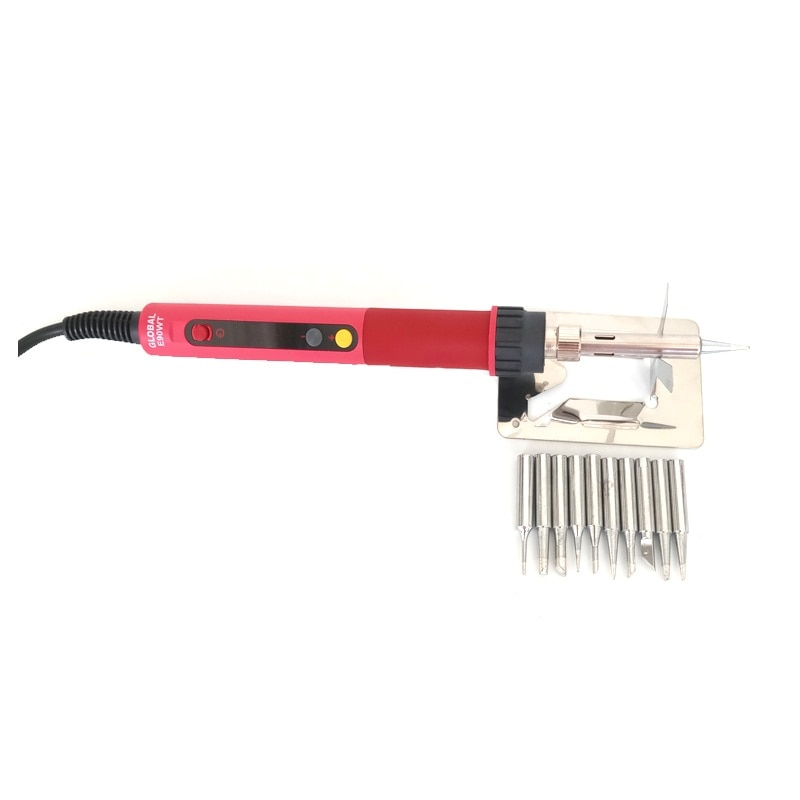 CXG E60WT E90WT E110WT Digital LCD Adjustable NC thermostat Electric soldering iron handle Welding repair +10pcs solder tip