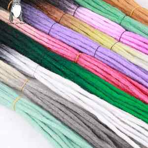 Desire for hair 20 pieces and 50 pieces hand made hip-hop style synthetic dreadlocks hair extensions  ombre color braiding hair