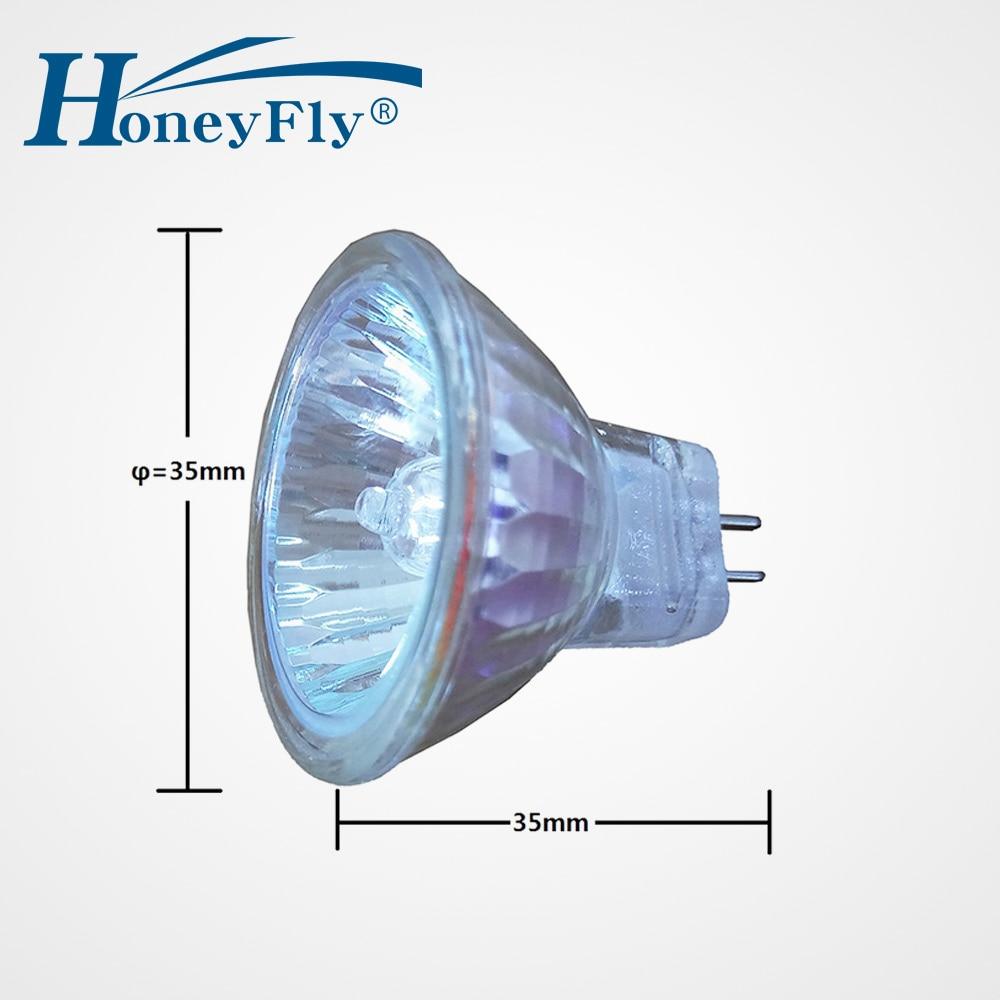 HoneyFly 5pcs Dimmable MR11 Halogen Lamp 12V 10W/20W GU4 Halogen Bulb Spot Light Warm White Clear Glass Indoor Halojen Lamba