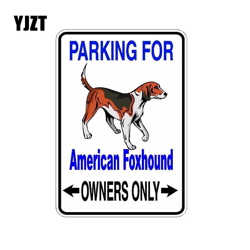 YJZT 10*14,2 CM perro Foxhound americano PVC Material de alta calidad coche pegatina C1-4521