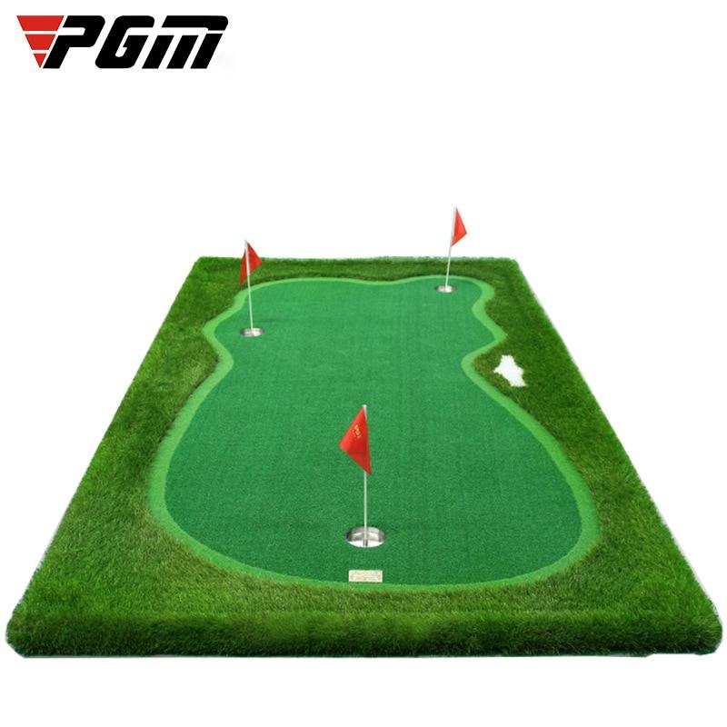 PGM 3.3ft*9.84ft Indoor Golf Putting Green Trainer Golf Putting Mat Artificial Turf Golf Putting Training Aids Equipment