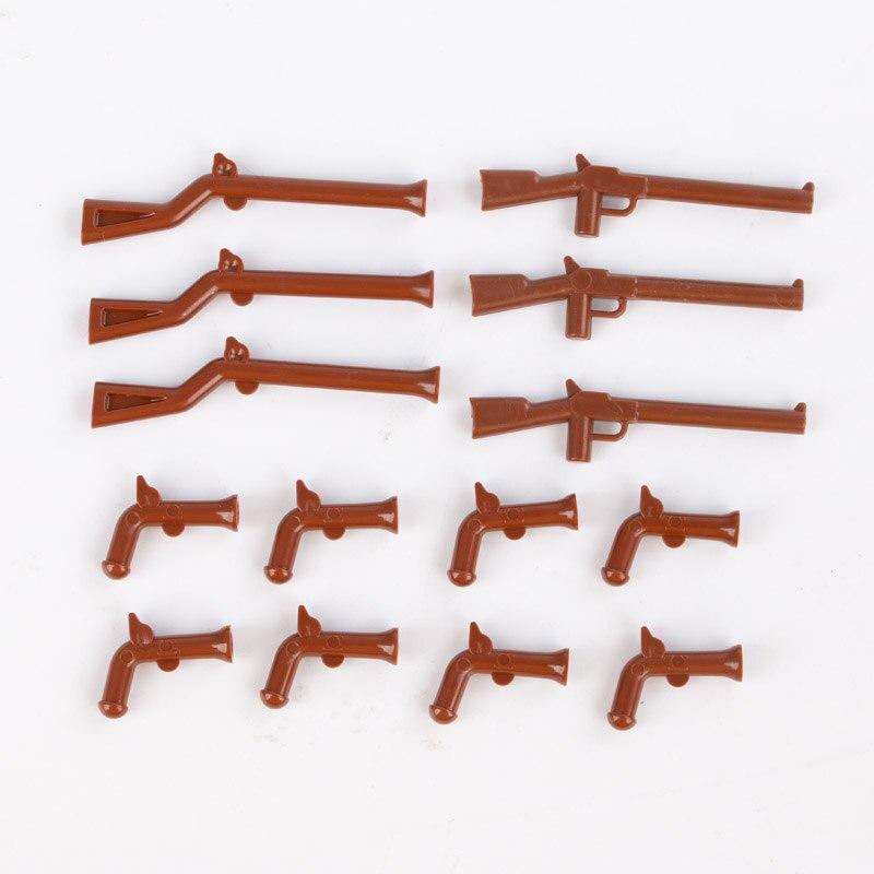 WW1 США набор военного оружия строительные блоки армейские солдатики фигурка аксессуар части города Пиратская модель оружия блок игрушки