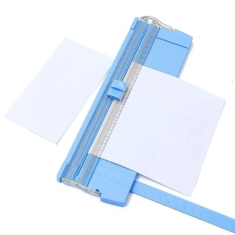 Portátil A4 de tarjeta de papel cortadora para Artes foto cortador de corte hoja reemplazar cortador * 2*1,8*1,3 cm azul