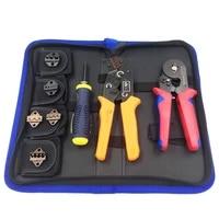 8 in 1 multi tools wire crimper tools kit terminal crimping plier round head pliersdual purpose telescopic screwdriver tool