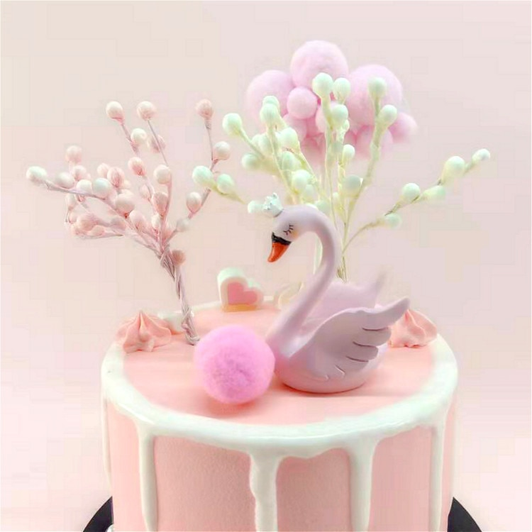 Fruit Foam árbol Cake decorativo cartel para pastel mesa de postre estético diseño suministros de fiesta pequeño árbol dress up