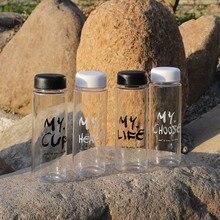 4 kind OF Portable Plastic Water Bottles Transparent Heat resistant Leakproof White Black Water Bottle Travel Custom Bottle