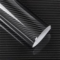Fibra de carbono vinil adesivo preto moda 6d fibra carbono vinil adesivo para carro da motocicleta lpod 152x10cm d19