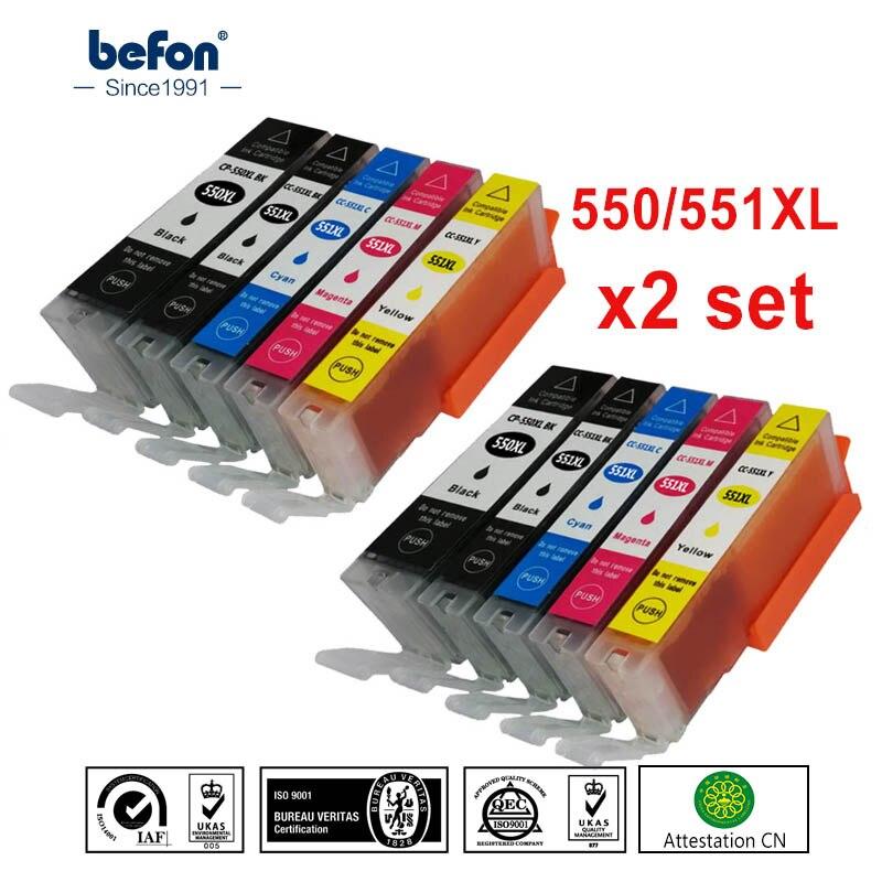 Befon X2 набор совместимый 550 551 XL чернильный картридж Замена для Canon PGI-550XL PGI550 PGI 550 CLI551 для PIXMA IP7250 MG5450