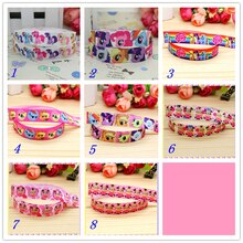 5/8 Free shipping Fold Elastic FOE horse minions printed headband headwear hairband diy decoration wholesale OEM S51