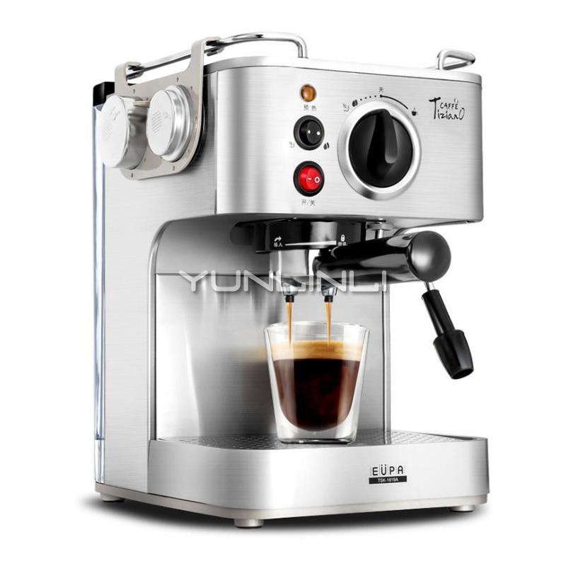 Máquina de café italiano YUNLINLI de 19 Bar, máquina de café Espresso semiautomática para el hogar recién molido, TSK-1819A