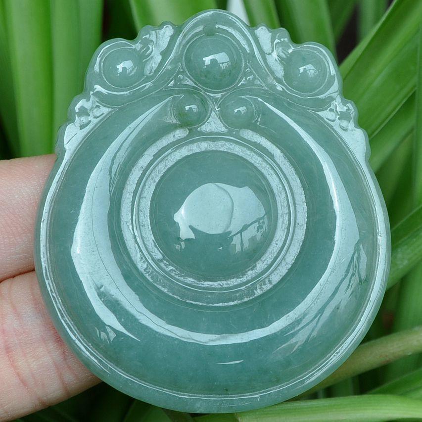 Grado Una luz verde + Tawny Esmeralda Jade Colgante ~ yunbei 10.19