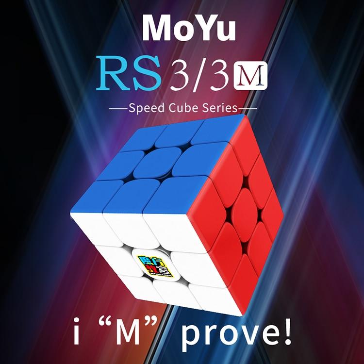 Mais novo Oriangle Mf3RS3 M 3x3x3 Cubo Moyu 3 3x3 Magnético Velocidade Cubo Mágico Profissional x 3x3 Forma Torção Cubo Brinquedos Educativos Miúdo