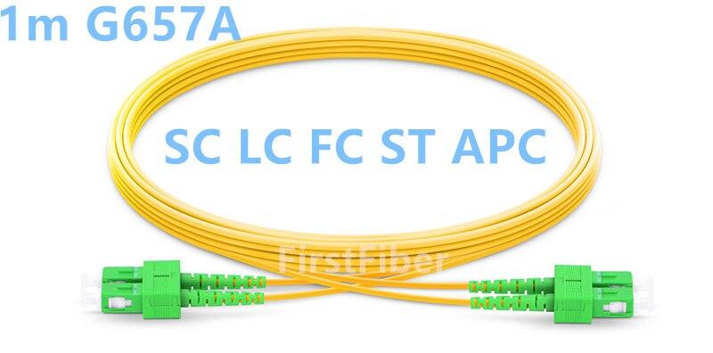 1m SC LC FC ST fibra APC Cable de parche de 2...