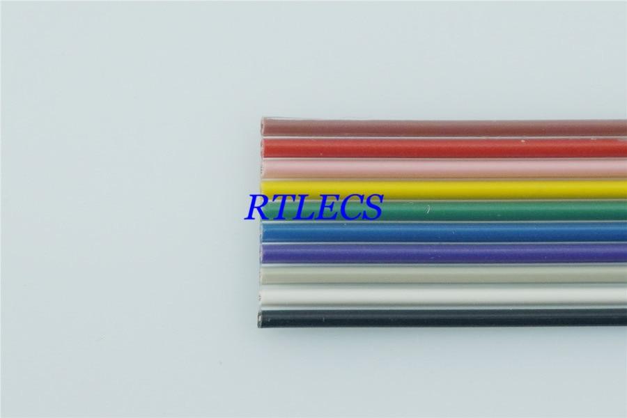 1m DIY 10 Pin 1,27mm tono plano Color Arco Iris cinta Cable...