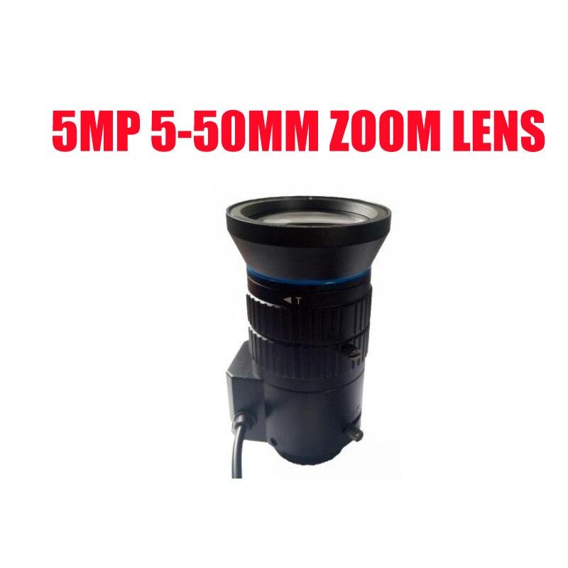 "5 megapíxeles HD 1/2 7 ""de 5-50mm de Iris Manual Varifocal CCTV montaje CS lente F1.4 analógicos/IP Cámara envío gratis"