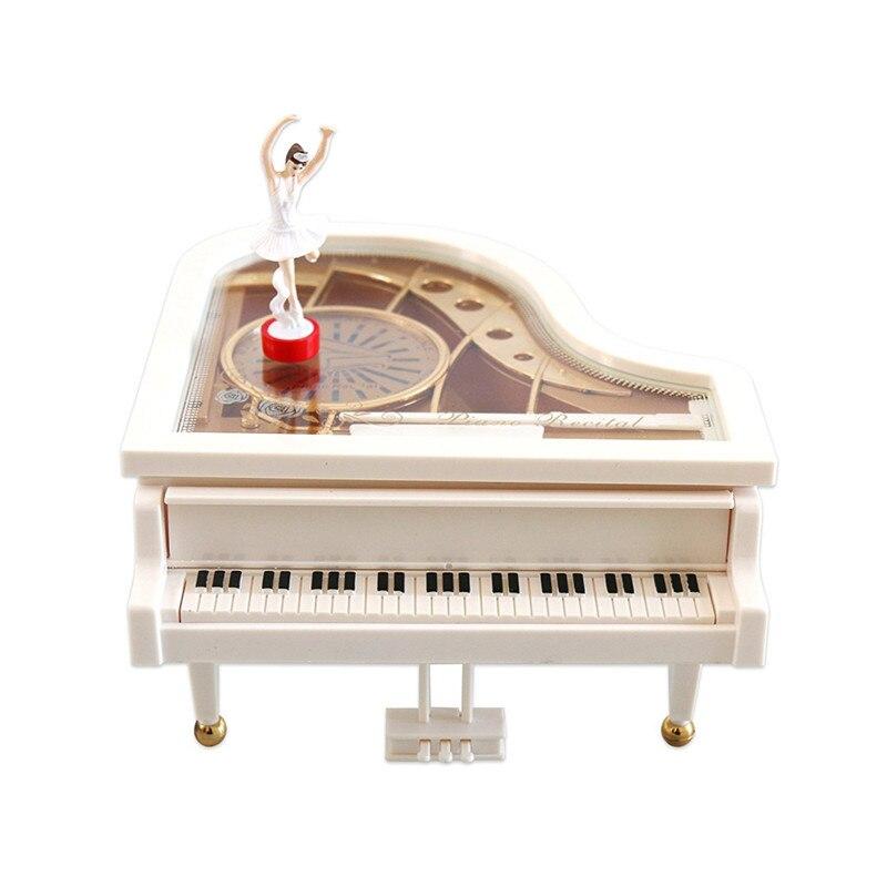 Caja de música mecánica clásica bailarina bailando en el Piano S, L para regalo del Día de San Valentín nuevo