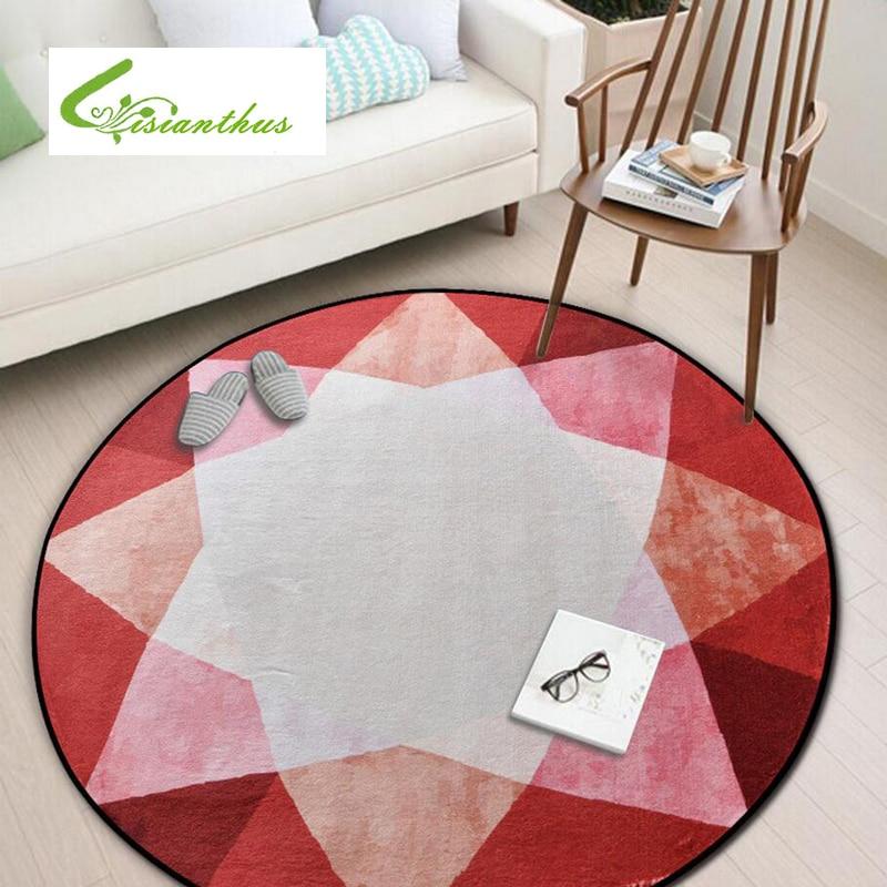 Alfombra redonda, alfombra geométrica, alfombra estampada antideslizante para cocina, alfombrilla para suelo, tapetes para balcón, dormitorio, sala de estar, estera de Yoga