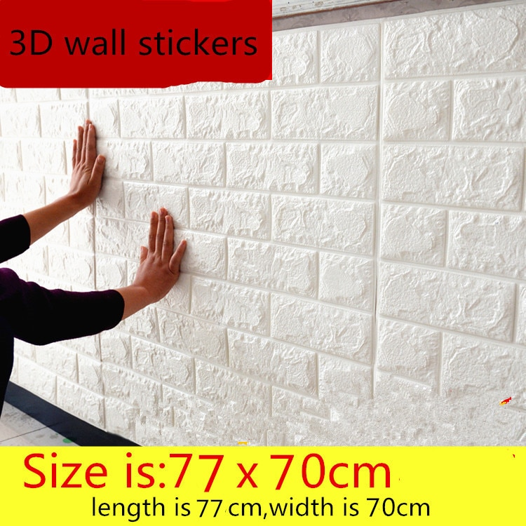 3D wall stickers self - adhesive creative TV background foam wall brick wallpaper decorative waterproof diy wall stickers 3d self adhesive wallpaper home creative tv background foam wall brick decorative waterproof wall sticker
