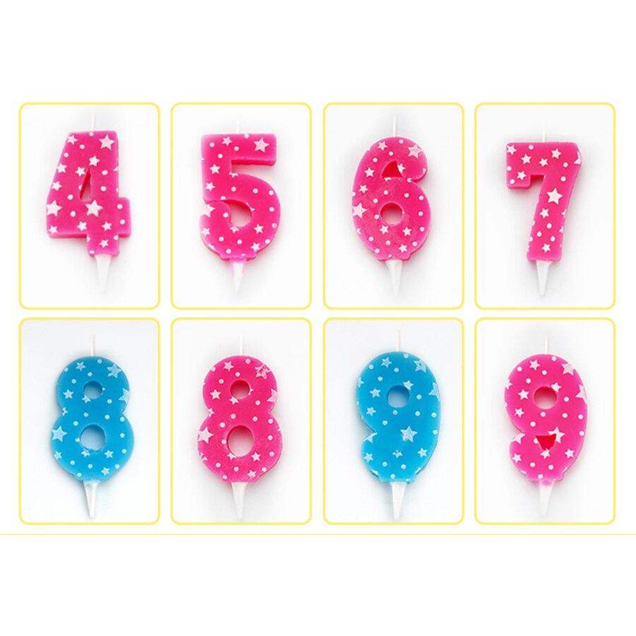 Número de Velas de cumpleaños pastel rojo decoración de Velas para boda...