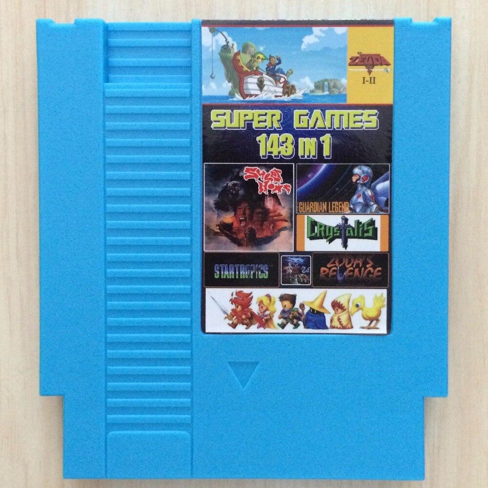 Топ 72 штифта 8-битный игровой картридж 143 в 1 с игрой Earthbound Final Fantasy 1 2 3 Kirby's Adventure ZeldaAlink to the Last