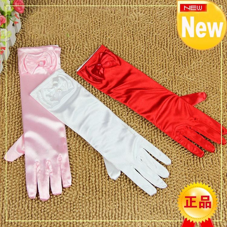 Детские перчатки для танцев 3 размера белые розовые красные glove accessories gloves