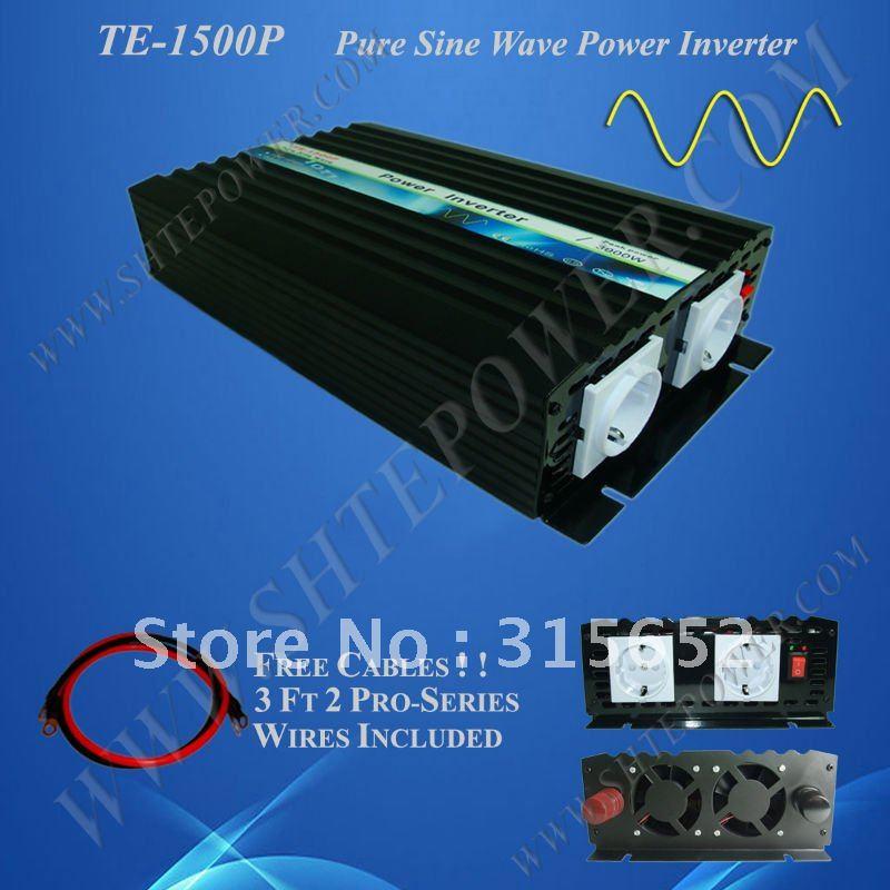 1500W Pure Sine Wave Power Inverter, DC 12V to AC 230V, Power Invertor