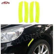 Autocollants réfléchissants de bande davertissement de sourcil de roue de voiture autocollants protecteurs de réflecteur de lumière davertissement de sécurité de pare-chocs pour Ford pour BMW