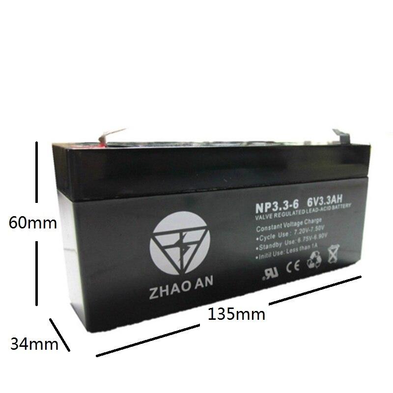 6V 3.3AH Battery 6V3.3AH for Children Electric Toy Car Baby Carrier UPS Backup Desk Light Lead-acid Rechargeable Accumulator