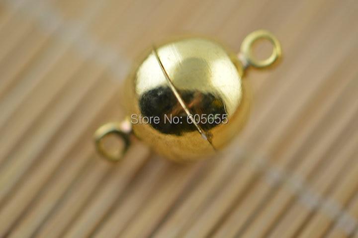 10mm banhado a Ouro cor Forma Redonda Fechos Magnéticos resultados da Jóia conectores